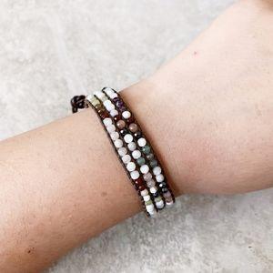 Chan Luu White Multi Mini Cuff Bracelet